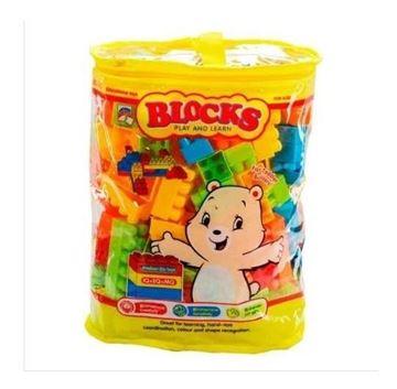 Imagen de Block Infantiles Tipo Lego Para Encastre En Bolso 64 Piezas