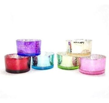Imagen de Vela En Vaso Cromado Varios Colores 9x5cm