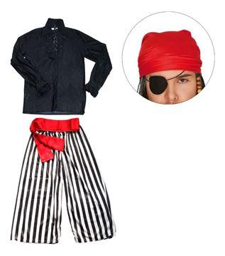 Imagen de Disfraz Adulto De Pirata Con Accesorios Talles M Y L