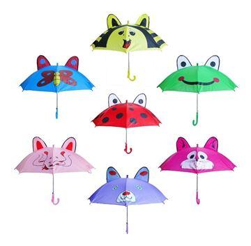 Imagen de Paragua Infantil Con Orejas 60cm 7 Diseños