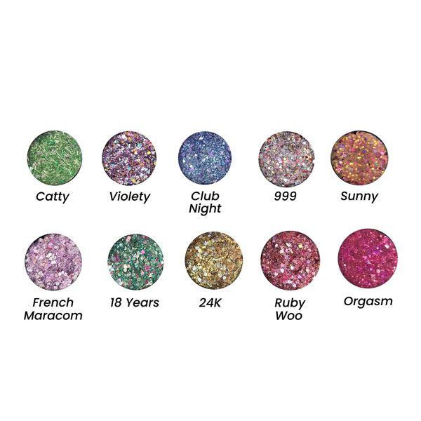 Imagen de Glitter en gel ojos, cara y cuerpo Huda Beauty