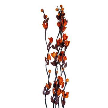 Imagen de Flor vara larga c/flor grande papel-pp bag X5