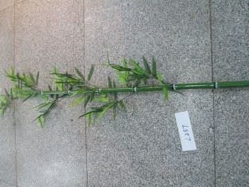Imagen de Flor vara Bamboo verde c/hojitas-120cm