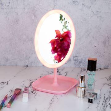 Imagen de Espejo Oval Con Base y Luz