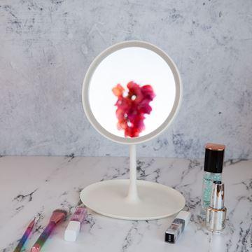 Imagen de Espejo Redondo Con Base y Luz