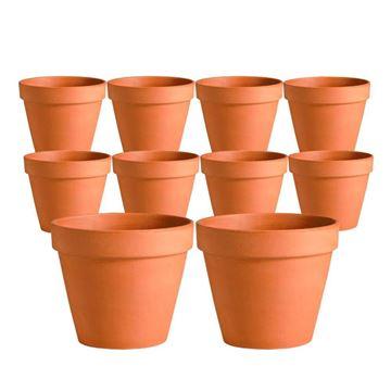 Imagen de Macetas de barro rustico chicas tunas jardin 8x8 cm caja cerrada